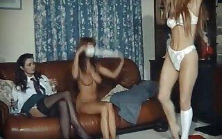 Girls night in vintage british dance strip fun