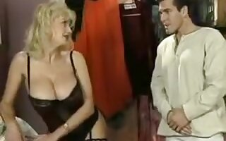 Horny Blonde, Big Tits xxx scene
